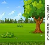 vector illustration of green... | Shutterstock .eps vector #740340865