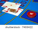 casino chips and cards | Shutterstock . vector #7403422