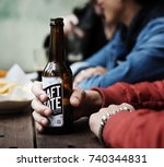 craft beer booze brew alcohol... | Shutterstock . vector #740344831