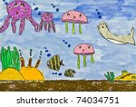 Child\'s Painting On Paper Of...