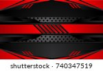 tech black background with... | Shutterstock .eps vector #740347519