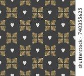 seamless pattern hearts. the...   Shutterstock . vector #740355625