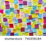sticky note post it board office   Shutterstock . vector #740358184