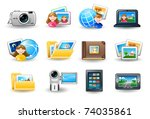 icon set   pictures | Shutterstock .eps vector #74035861