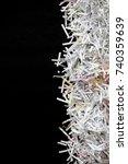 shredded documents over black... | Shutterstock . vector #740359639