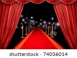 presentation with red carpet... | Shutterstock . vector #74036014