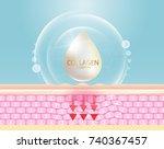collagen serum and vitamin... | Shutterstock .eps vector #740367457