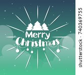 christmas background vector... | Shutterstock .eps vector #740369755