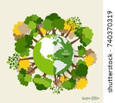 eco friendly. ecology concept... | Shutterstock .eps vector #740370319