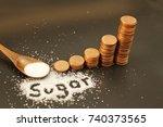 sugar tax or soda tax is a tax... | Shutterstock . vector #740373565