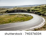 road in the mountains | Shutterstock . vector #740376034