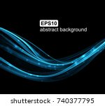abstract light wave futuristic... | Shutterstock .eps vector #740377795