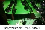 in the studio  the television... | Shutterstock . vector #740378521