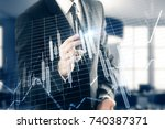 unrecognizable businessman... | Shutterstock . vector #740387371