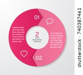 circle arrows for infographics. ... | Shutterstock .eps vector #740387461