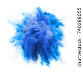 paint powder explosion or... | Shutterstock . vector #740388055