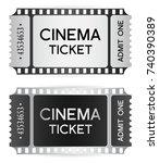 cinema ticket  token template ... | Shutterstock .eps vector #740390389