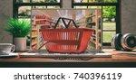 supermarket online shopping...   Shutterstock . vector #740396119