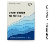 poster design with a pattern of ... | Shutterstock .eps vector #740396491