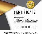 certificate template luxury and ... | Shutterstock .eps vector #740397751