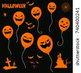 halloween vector | Shutterstock .eps vector #740400241