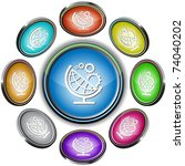 globe and gears. vector... | Shutterstock .eps vector #74040202