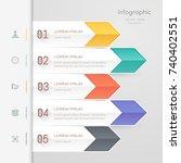 infographics design template... | Shutterstock .eps vector #740402551