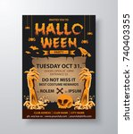 halloween card invitation.... | Shutterstock .eps vector #740403355