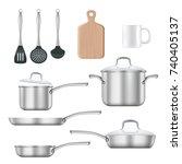 Vector Set Of Kitchen Utensils. ...