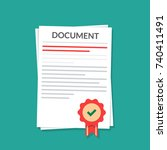 document with a seal.... | Shutterstock .eps vector #740411491