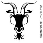 animal,antelope,antler,beast,black,cattle,cloven,contour,deer,emblem,face,front,frontal,goat,grey