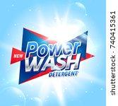 creative laundry detergent... | Shutterstock .eps vector #740415361