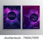 music party flyer poster... | Shutterstock .eps vector #740417095