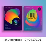 music party flyer template... | Shutterstock .eps vector #740417101
