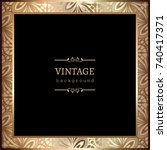vintage gold photo frame with... | Shutterstock .eps vector #740417371