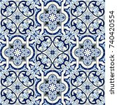 gorgeous seamless pattern white ... | Shutterstock .eps vector #740420554