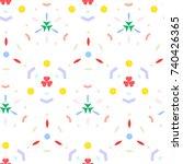 vector illustration of seamless ... | Shutterstock .eps vector #740426365