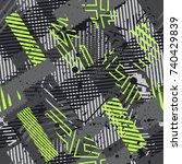 abstract vector seamless...   Shutterstock .eps vector #740429839