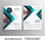 abstract blue business brochure ... | Shutterstock .eps vector #740431087