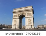arc de triomphe  place charles... | Shutterstock . vector #74043199