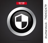 shield icon. protect sign | Shutterstock .eps vector #740432479