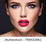 portrait of beautiful girl... | Shutterstock . vector #740432881