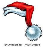 cartoon santa hat isolated on... | Shutterstock .eps vector #740439895