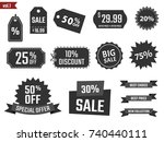 discount coupons set  sale... | Shutterstock .eps vector #740440111