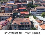 downtown of tbilisi  georgia ... | Shutterstock . vector #740445085