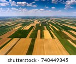 rural aerial landscape with... | Shutterstock . vector #740449345