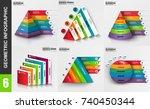 infographic geometric elements... | Shutterstock .eps vector #740450344