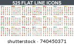 simple set of vector flat line...