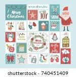 christmas advent calendar....   Shutterstock .eps vector #740451409