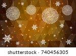 dark orange vector christmas... | Shutterstock .eps vector #740456305